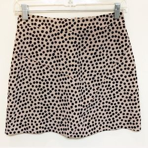 BCBG Generation Cheetah Print Polka Dot Skirt 0